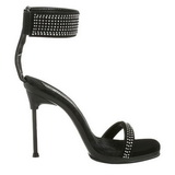 Black Strass 12 cm CHIC-40 Stiletto High Heels Shoes