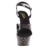 Black Strass 15 cm STARDUST-609 Womens Shoes with High Heels