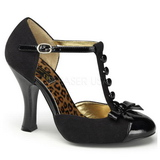 Black Suede 10 cm SMITTEN-10 Women Pumps Shoes Flat Heels