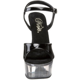 Black Transparent 15 cm CAPTIVA-609 High Heels Platform