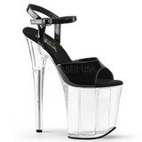 Black Transparent 20 cm Pleaser FLAMINGO-809 High Heels Platform