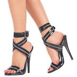 3d618b1236f Black Varnish 15 cm DOMINA-119 Womens High Heels Sandals