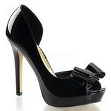 Black Varnished 12 cm LUMINA-32 High Heeled Evening Pumps Shoes