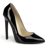 Black Varnished 13 cm SEXY-20 Women Pumps Shoes Flat Heels