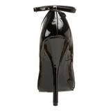 Black Varnished 15,5 cm DOMINA-431 Women Pumps Shoes Flat Heels