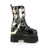 Black Vegan 12,5 cm ETERNAL-115 demonia ankle boots wedges