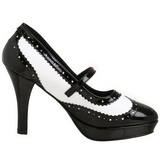 Black White 10,5 cm CONTESSA-06 Womens Shoes with High Heels