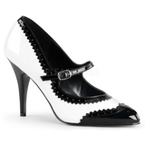 Black White 10,5 cm VANITY-442 Pumps with low heels