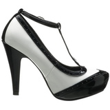 Black White 11,5 cm retro vintage BETTIE-22 Womens Shoes with High Heels