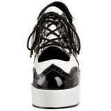 Black White 11 cm GANGSTER-15 Womens Shoes with High Heels