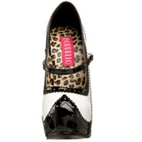 Black White 14,5 cm Burlesque TEEZE-02 Womens Shoes with High Heels