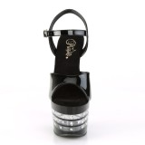 Black sandals platform 18 cm ADORE-709LNRS pleaser high heels sandals