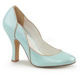 Blauw 10 cm SMITTEN-04 Pinup pumps schoenen met lage hakken