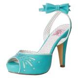 Blauw 11,5 cm Pinup BETTIE-01 sandalen met naaldhak