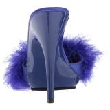 Blauw 13 cm POISE-501F maraboe veren Mules Schoenen