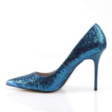 Blauw Glitter 10 cm CLASSIQUE-20 grote maten stilettos schoenen