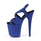 Blauw Kunstleer 20 cm FLAMINGO-831FS sandalen met naaldhak