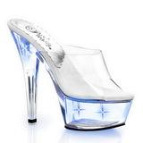 Blauw LED Gloeilamp 15,5 cm KISS-201LT Hoge Dames Slippers