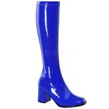 Blauw Lak 8,5 cm Funtasma GOGO-300 Dames Laarzen