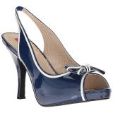 Blauw Lakleer 11,5 cm PINUP-10 grote maten sandalen dames