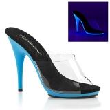 Blauw Neon 13 cm POISE-501UV Plateau Mules Schoenen