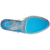 Blauw Neon 18 cm Pleaser CRYSTALIZE-308PS Plateau Hoge Hakken