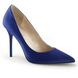 Blauw Satijn 10 cm CLASSIQUE-20 grote maten stilettos schoenen