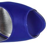 Blauw Strass 13 cm LOLITA-08 Hoge Avond Pumps Schoenen met Hak