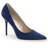 Blauw Suede 10 cm CLASSIQUE-20 grote maten stilettos schoenen