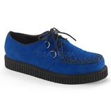 Blauw Suede 2,5 cm CREEPER-602S Creepers Schoenen Mannen