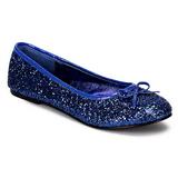 Blauw glitter STAR-16G dames ballerinas schoenen