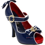Blue 11,5 cm ANCHOR-22 Womens Shoes with High Heels
