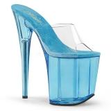 Blue 20 cm FLAMINGO-801T Platform Women Mules Shoes