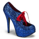 Blue Glitter 14,5 cm TEEZE-10G Platform Pumps Shoes