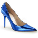 Blue Metallic 10 cm CLASSIQUE-20 Women Pumps Shoes Stiletto Heels