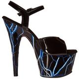 Blue Neon 18 cm Pleaser ADORE-709NLB Platform High Heels