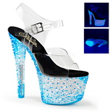 Blue Neon 18 cm Pleaser CRYSTALIZE-308PS Platform High Heels