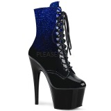 Blue glitter 18 cm ADORE-1020OMB Pole dancing ankle boots