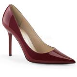 Bordeaux Lak 10 cm CLASSIQUE-20 grote maten stilettos schoenen