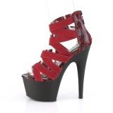 Bordeaux elastische band 18 cm ADORE-748SP pleaser schoenen met hak