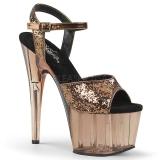 Bronze 18 cm ADORE-710GT glitter platform high heels shoes