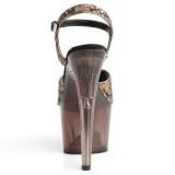Bronzen 18 cm ADORE-710GT glitter plateau schoenen dames met hak