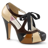 Brown 11,5 cm retro vintage BETTIE-19 Womens Shoes with High Heels