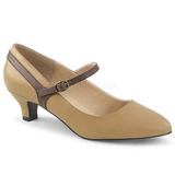 Brown Leatherette 5 cm FAB-425 big size pumps shoes