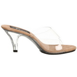 Brown Transparent 8 cm BELLE-301 High Women Mules Shoes for Men