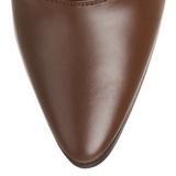 Bruin 7 cm VICTORIAN-120 Dames Enkellaarzen met Veters