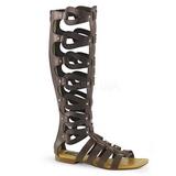 Bruin ATHENA-200 lange kniehoge gladiator sandalen dames