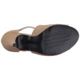 Bruin Kunstleer 10 cm DREAM-412 grote maten sandalen dames
