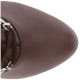 Bruin Kunstleer 12,5 cm EVE-106 grote maten enkellaarzen dames