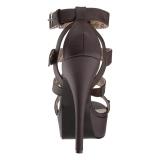 Bruin Kunstleer 14,5 cm Burlesque TEEZE-42W mannen high heels voor brede voeten